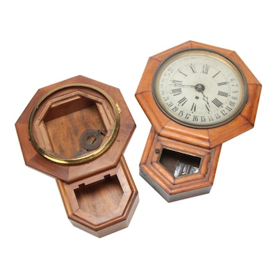 Welch Co. Octagonal Wall Clock and Clock Housing