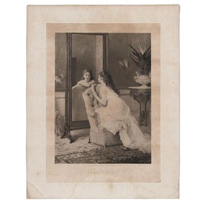 "Photogravure After Gustave Leonard de Jonghe ""Coquetterie"""