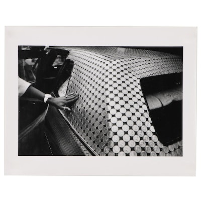 "William D. Wade Silver Gelatin Print of Art Car ""Money Car"""