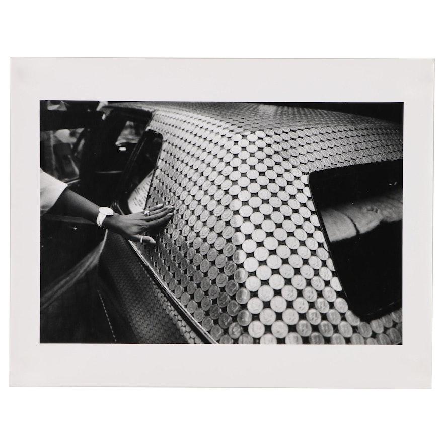 "William D. Wade Silver Gelatin Print of Art Car ""Money Car"""