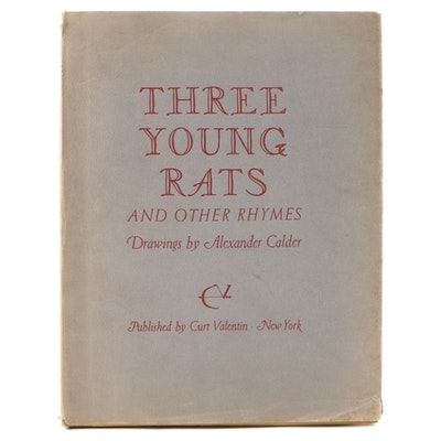 "Alexander Calder Illustrated First Edition ""Three Young Rats and Other Rhymes"""