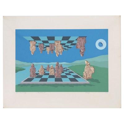 """Serigraph """"Knight Errant"""", 1983"""