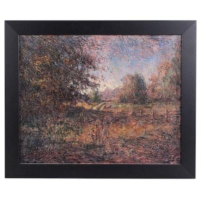 Impressionist Style Pastoral Landscape Oil Painting
