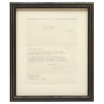 Autographed Richard Nixon Letter, 1988