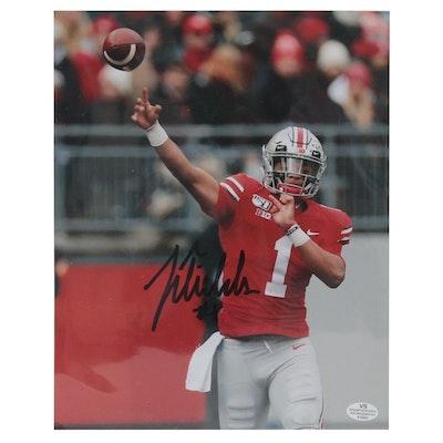 Justin Fields Ohio State Buckeyes Autographed Photo