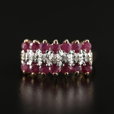 10K Gold Ruby and Diamond Ring