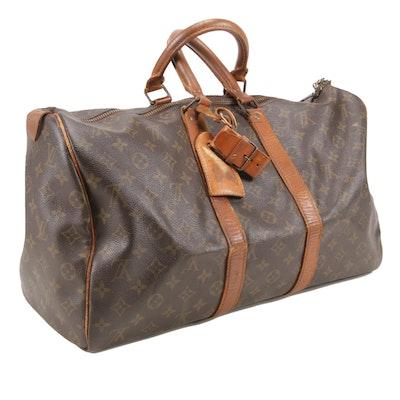 Louis Vuitton Keepall 45 Duffel in Monogram Canvas and Vachetta Leather
