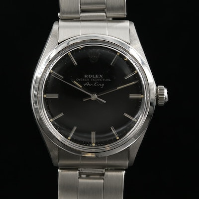 Rolex Air - King Stainless Steel Automatic Wristwatch