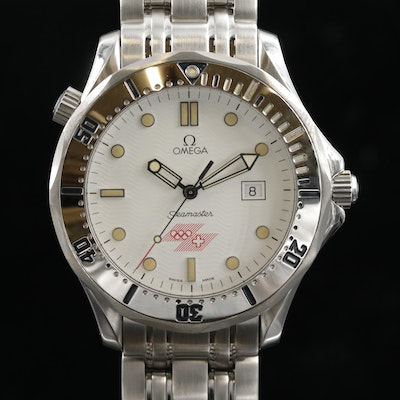 Omega Seamaster Olympia Stainless Steel Limited Edition Wristwatch, 1994
