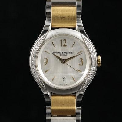 Baume & Mercier Ilea Diamond 18K Gold and Stainless Steel Wristwatch