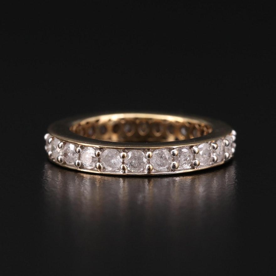 10K Gold 1.75 CTW Diamond Eternity Band