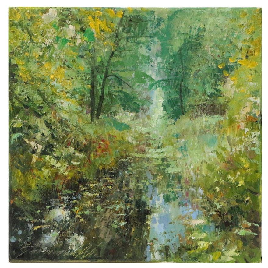 """Garncarek Aleksander Oil Painting """"Zavosla"""""""