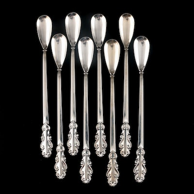 "Towle ""Esplanade"" Sterling Silver Iced Tea Spoons, Mid to Late 20th Century"