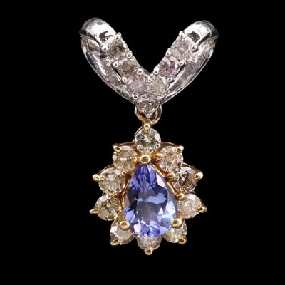 18K Tanzanite and Diamond Pendant