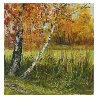 """Garncarek Aleksander Oil Painting """"Nadstawew"""""""