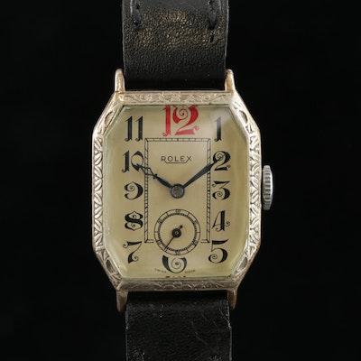 Rolex Marconi 800 Silver Stem Wind Wristwatch, Vintage