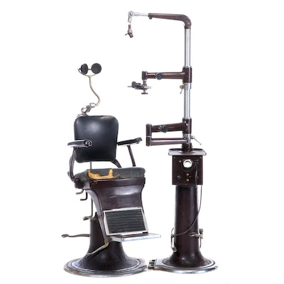 Dentist Chair and Equipment, Mid-20th Century