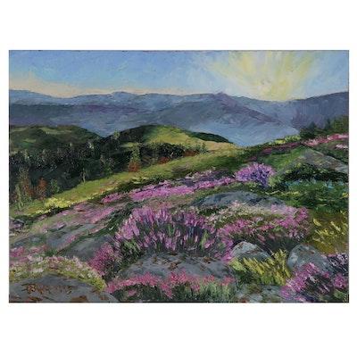 """James Baldoumas Oil Painting """"Mountain Heather"""""""
