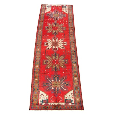 3'4 x 10'8 Hand-Knotted Persian Heriz Carpet Runner