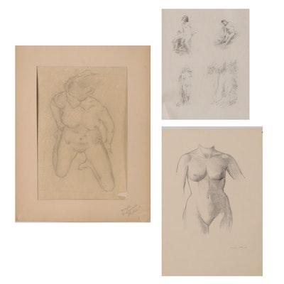 Benjamin Miller Nude Figure Drawings, circa 1931