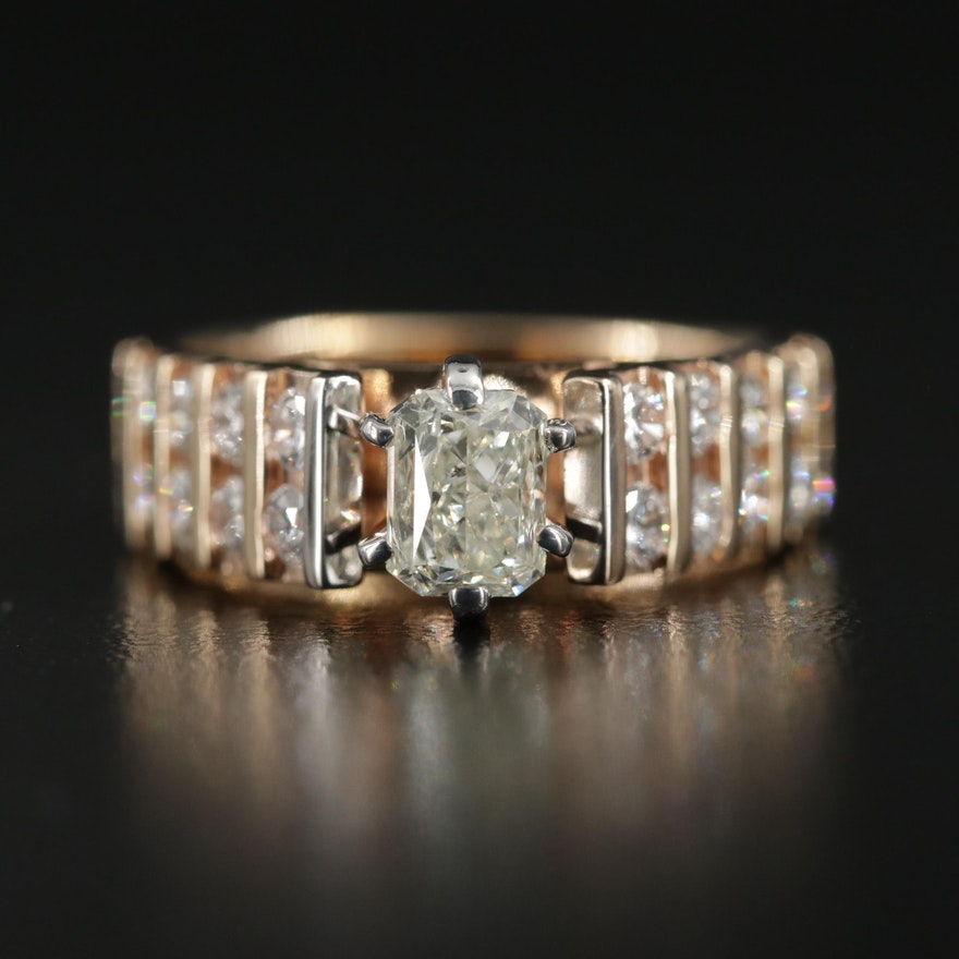 14K Gold 1.74 CTW Diamond Ring