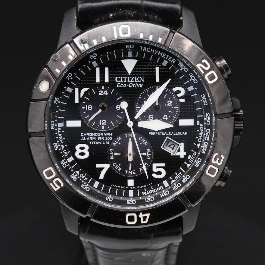Citizen Eco Drive Titanium Chronograph Quartz Wristwatch