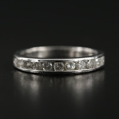 Platinum Diamond Channel Band