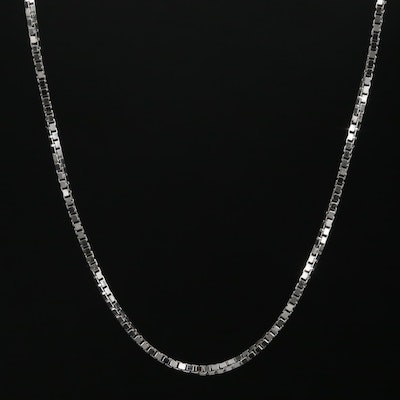 Milros 18K Gold Box Chain Necklace