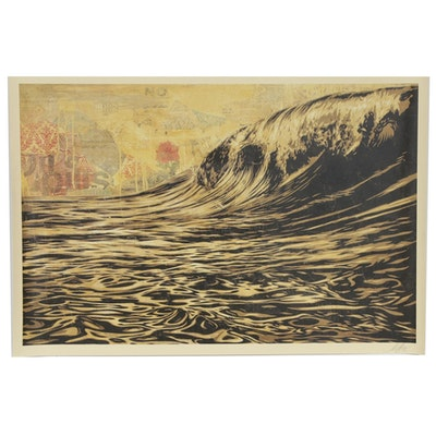 "Shepard Fairey Offset Poster ""Dark Wave"", 2020"