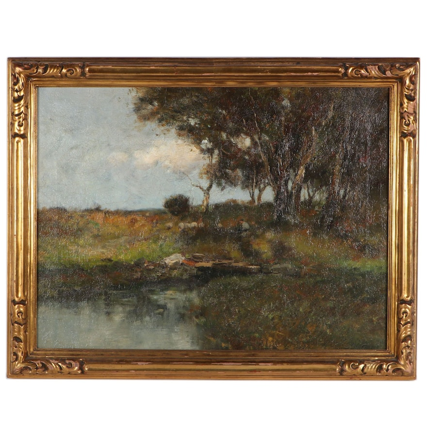 Charles Paul Gruppe Landscape Oil Painting