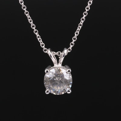14K Gold 1.93 CTW Diamond Solitaire Necklace