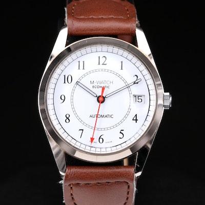 Mondaine Ecomatic Recycled Brass Case Automatic Wristwatch