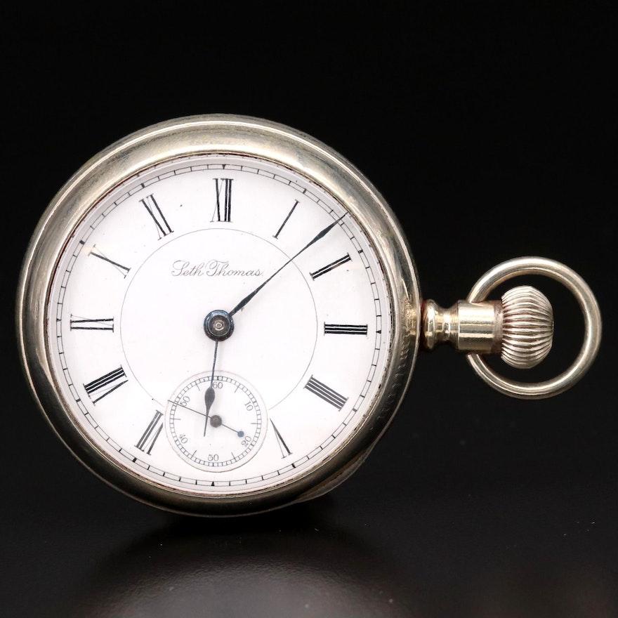 Antique Seth Thomas Side Winder Pocket Watch, 1887