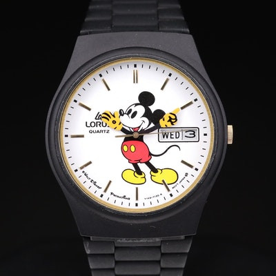 Mickey Mouse Lorus Day/Date Quartz Wristwatch