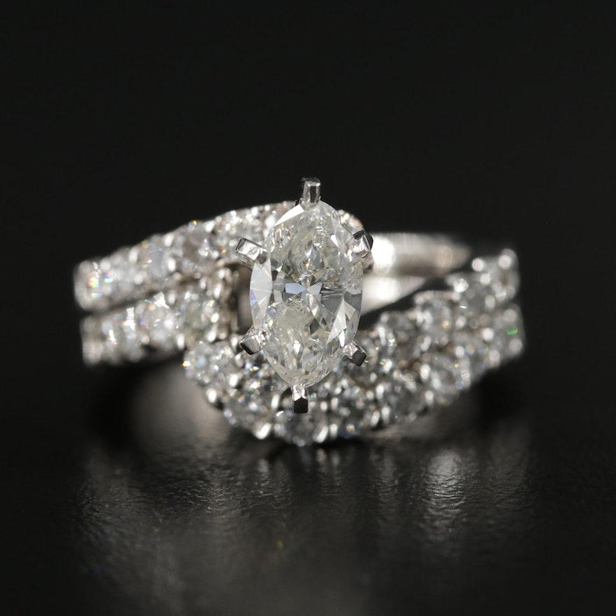 14K Gold 2.53 CTW Diamond Ring Set