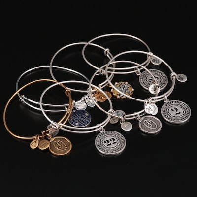 Alex and Ani Charm Bracelets with Mazel Tov and Bat Mitzvah Charms