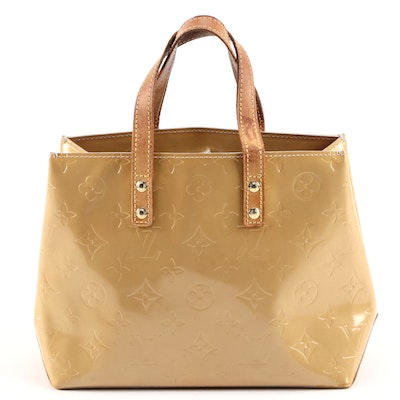 Louis Vuitton Reade PM Top Handle Bag in Monogram Vernis with Vachetta Leather