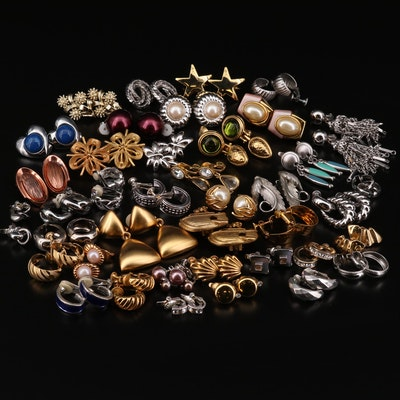 Collection of Earrings Featuring Trifari, Anne Klein, Noah's Art, and Renior