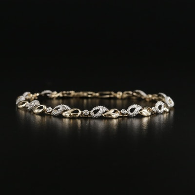 14K Gold Diamond Line Bracelet