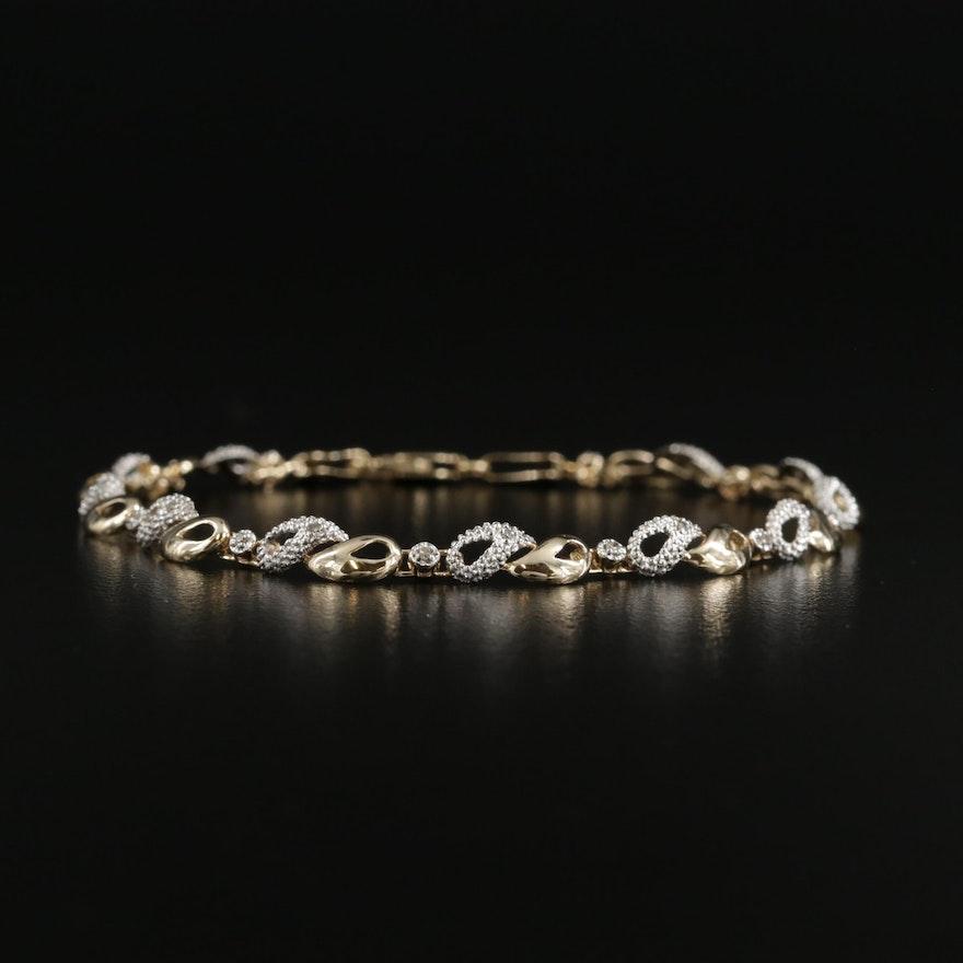 14K Gold Diamond Line Bracelet