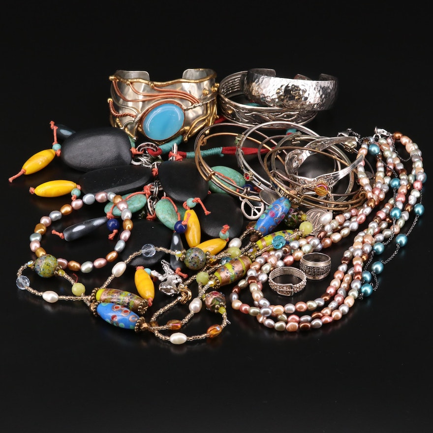 Jewelry Featuring Sterling, Honora, Alex and Ani and Pearls