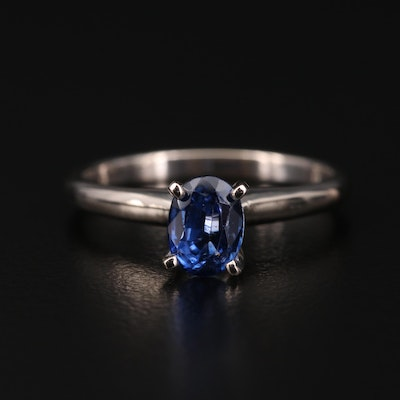 14K Gold 1.24 CT Sapphire Solitaire Ring
