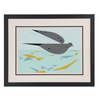 "Charley Harper Ford Times Serigraph ""Mourning Dove"""