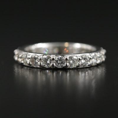 14K White Gold 1.51 CTW Diamond Eternity Band