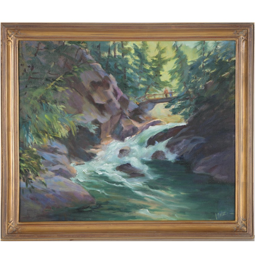 Mitzi Goward Oil Painting of a River