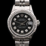 1984 Rolex Datejust 14K Gold and Stainless Steel Diamond Automatic Wristwatch