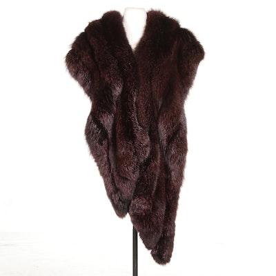 Neiman-Marcus Dyed Fox Fur Stole, Vintage