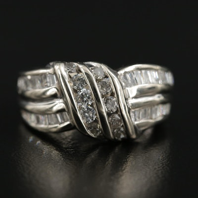 14K White Gold 1.01 CTW Diamond Ring