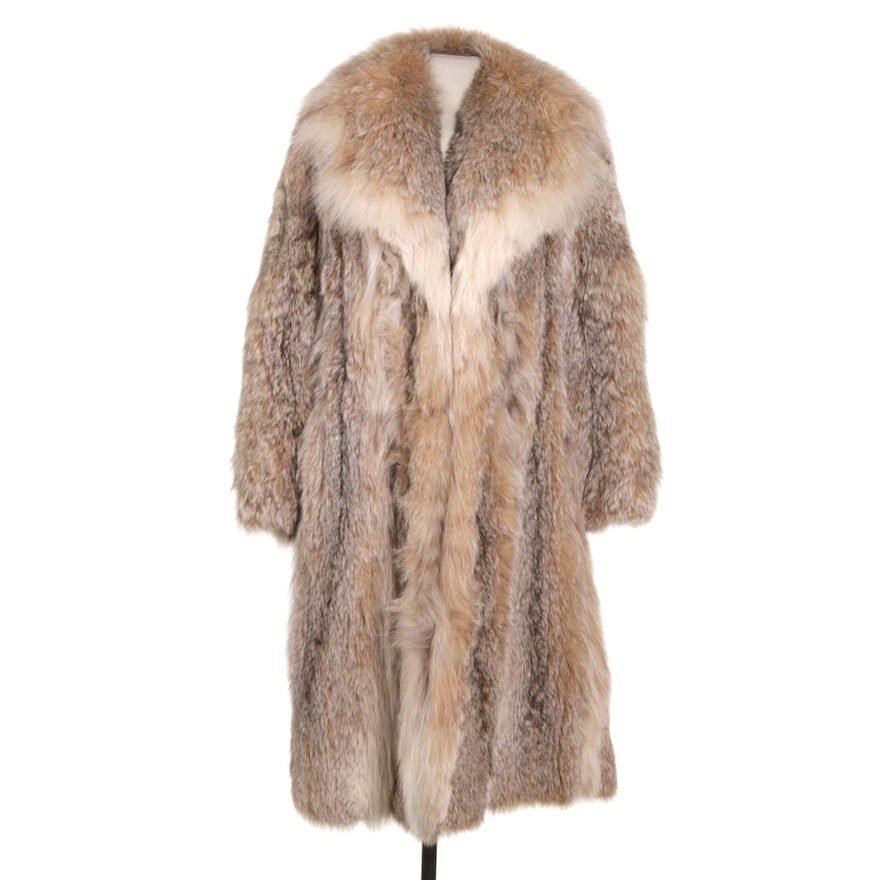 Canadian Lynx Fur Coat with Shawl Collar