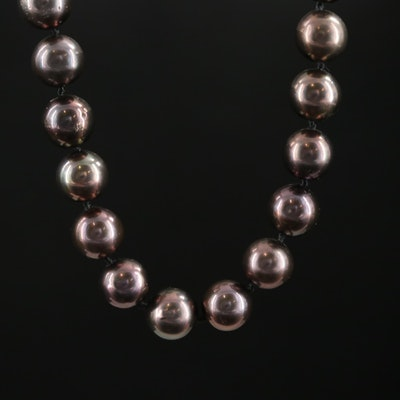 Hand Knotted Strand of Pearl with 14K Clasp